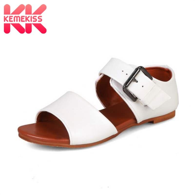 ¡Novedad de 2020! Sandalias planas RIZABINA para mujer, zapatos de verano con hebilla a la moda, sandalias informales de uso diario para mujer, calzado para el hogar para mujer, talla 34-43