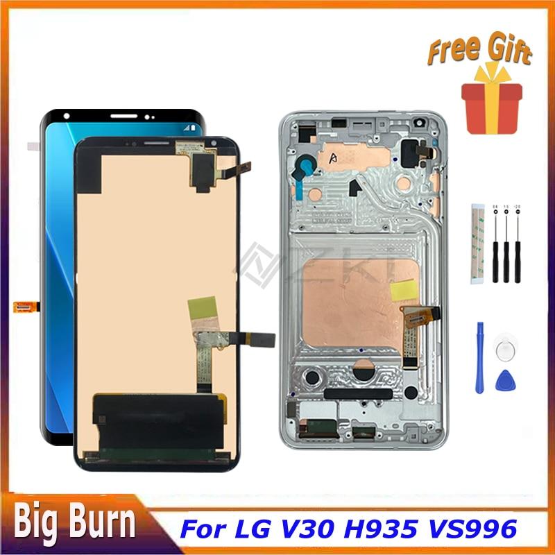 ЖК-дисплей Red Burn для LG V30 H930 H931 H932 H933 VS996 US998 LS998U LGM-V300L K V300S AS998, панель дигитайзера, стеклянный сенсорный экран