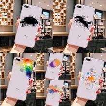 Art splash couleur noir panthère cheval bricolage téléphone accessoires étui pour iPhone 5 5Sx 6 7 7plus 8 8plus X XS MAX XR 11 pro max