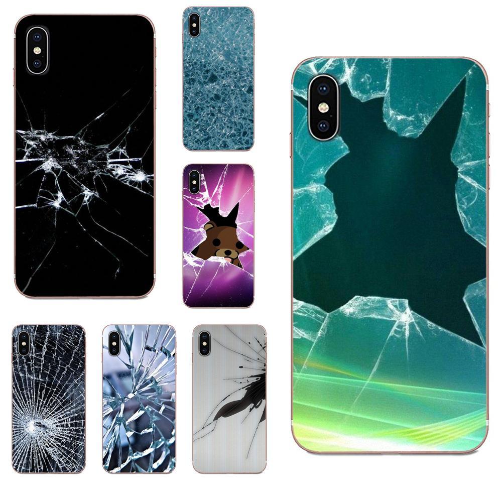 Para Samsung Galaxy A51 A71 A81 A90 5G A91 A01 S11 S11E S20 Plus Ultra piel delgada Pc móvil patrón de pantalla rota