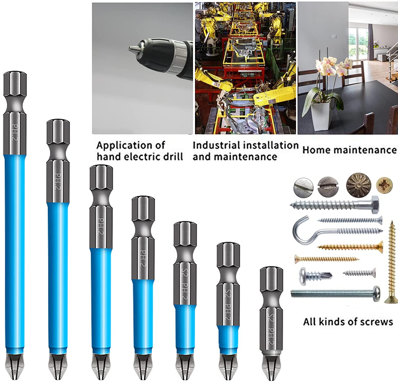 Магнитные Нескользящие сверла, набор магнитных сверл PH2 Phillips, ручные инструменты, отвертка с шестигранным хвостовиком, ручные инструменты