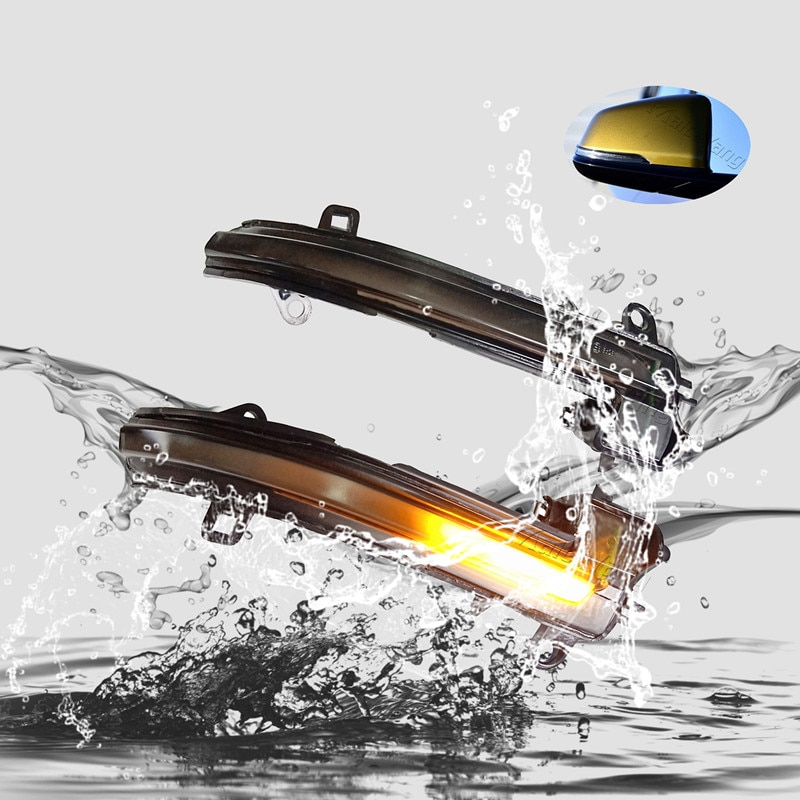 Para BMW X1 F48 2016 2017 2018 2019 LED Luz de señal de giro dinámica espejo retrovisor lateral lámpara intermitente secuencial