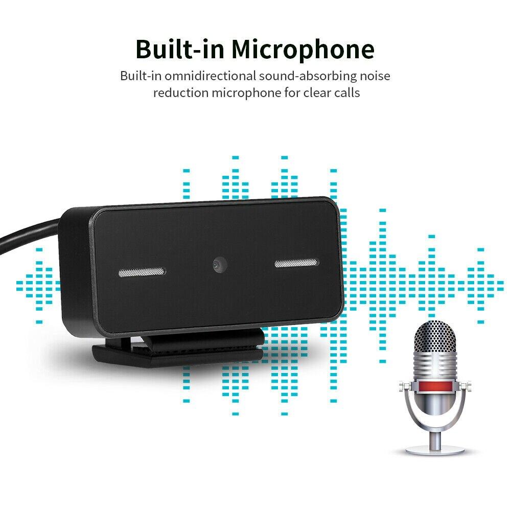 USB 1080P 2MP HD PC Webcam cámara Digital Web Cam con micrófono de enfoque automático para PC portátil