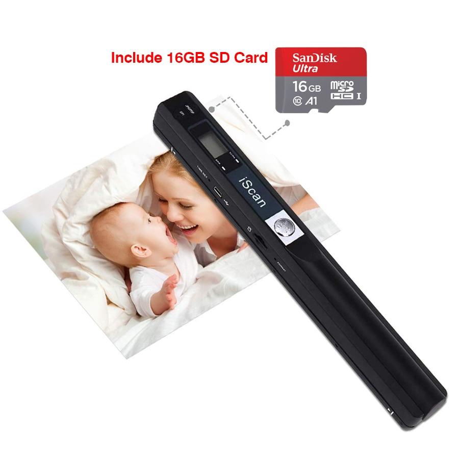 IScan портативный мини сканер документов, беспроводной USB A4 фотобумага, цветная фотография, сканер изображения, ЖК-дисплей, Ручной JPG и PDF 900DPI