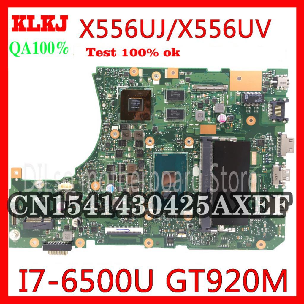 KLKJ X556UJ X556UV اللوحة ل ASUS X556U X556UV X556UF X556UR اللوحة المحمول 4GB I7-6500U CPU GT920M اختبار