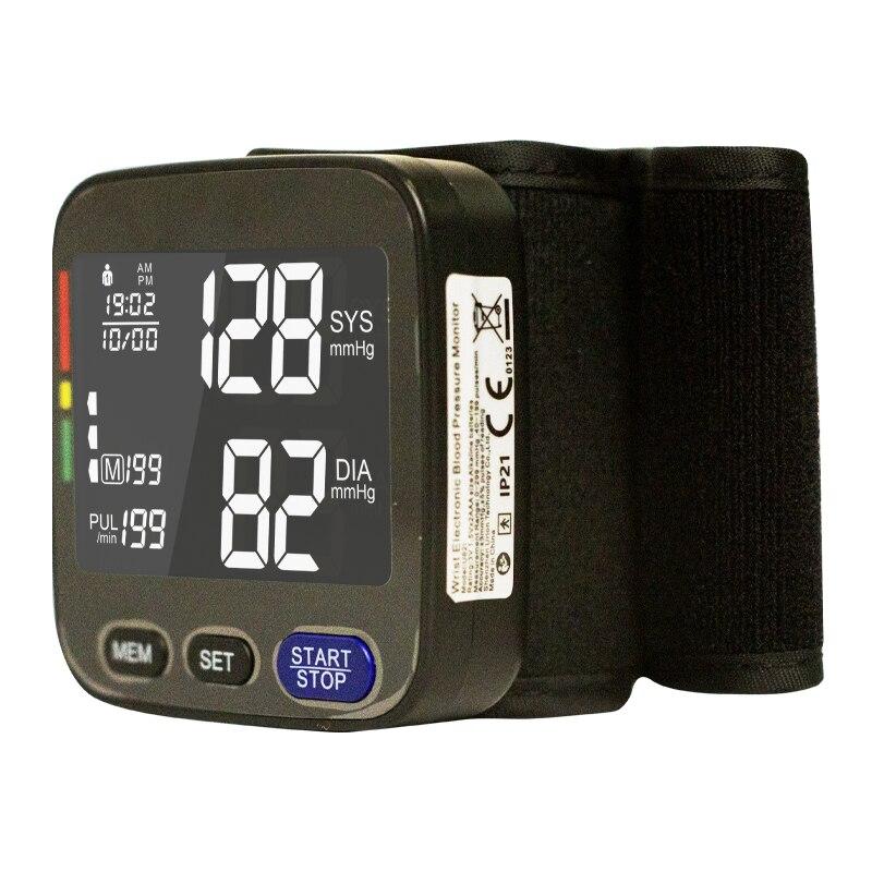 معصم رقمية مقياس ضغط الدم مقياس الضغط جهاز مراقبة معدات طبية نبض معدل ضربات القلب المحمولة مقياس التوتر BP