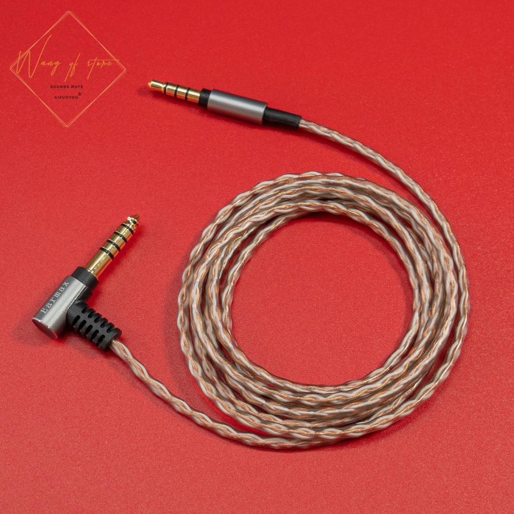 6N ايفي متوازن الصوت كابل ل فيليبس Shp9500 Fidelio X2 X1 ATH MSR 7 6N أورينت 99.99997% 4.4 2.5 3.5 مللي متر المقابس الذهب مطلي