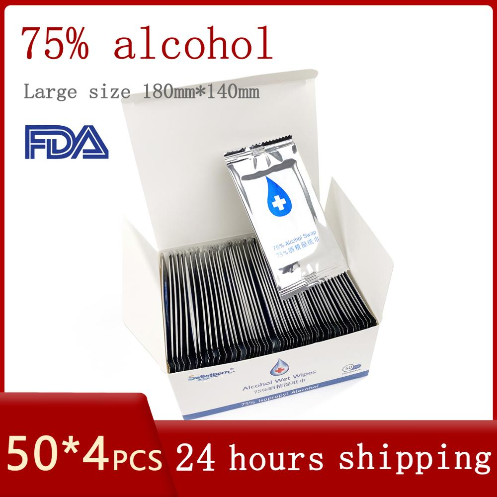 75% alcohol disinfectant wipes  portable independent package disinfection no hand travel hand wipes  antibacterial alcohol