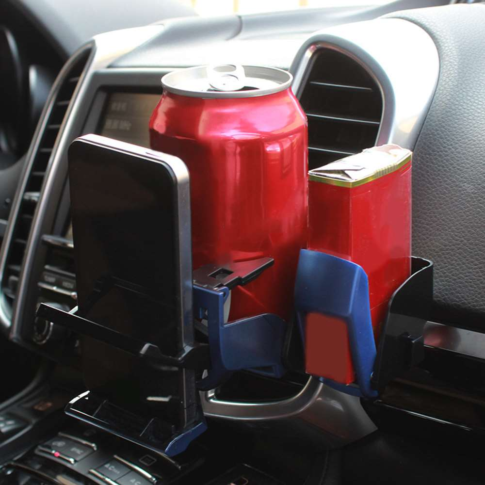 1* Universal Folding Cup Holder Car Air-Outlet Drink Bottle Can Phone Keys Organizer Storage