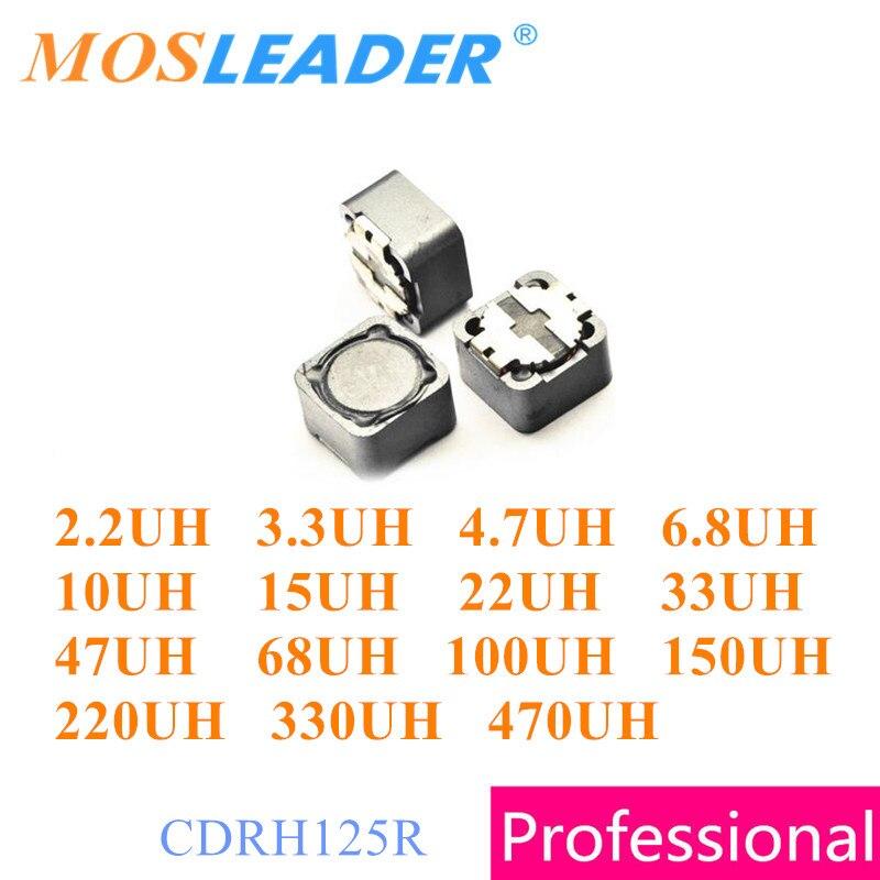 Mosleader 500 قطعة CDRH125R 2.2UH 3.3UH 4.7UH 6.8UH 10UH 15UH 22UH 33UH 47UH 68UH 100UH 150UH 220UH 330UH 470UH CDRH125 12x12x5
