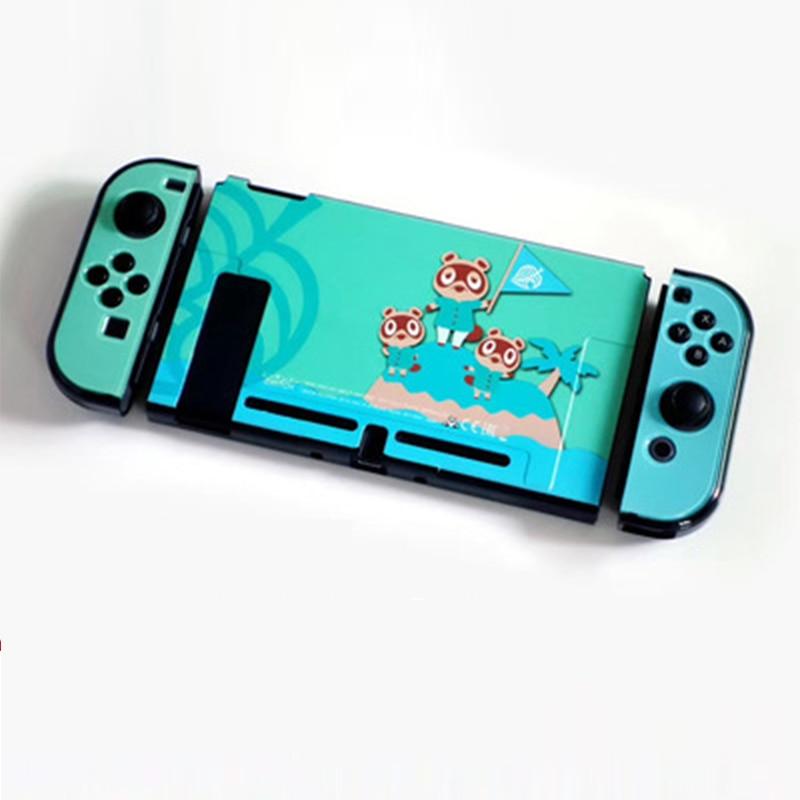 Carcasa protectora dura para Nintendos Switch Animal Crossing tema delgada carcasa ligera