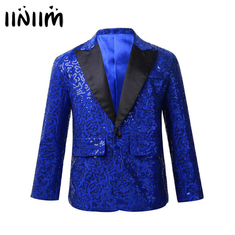 Kids Boys Suits Hosted Catwalk Holographic Costumes Hip Hop Jazz Dancewear Boy Flower Girl Dress Weddings Blazer Tuxedo Clothing