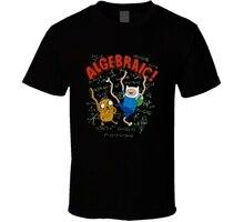 모험 시간 algebraic finn and jake 만화 검은 색 t 셔츠