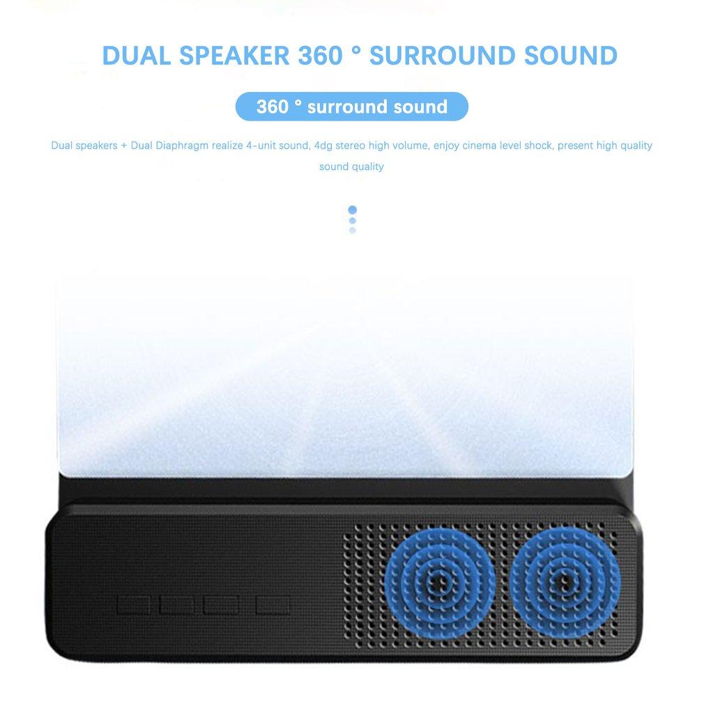 12 Inch Screen 3D HD Mobile Phone Screen Amplifier Magnifier With Wired Speaker Expander Bracket Desk Holder Enlarge Magnifier enlarge