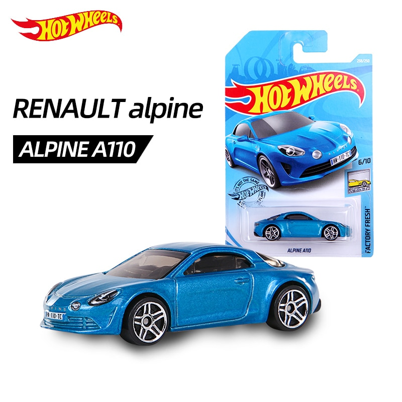 Rueda caliente 1 64 sedán alpino (ALPINE A110) (coche Super run), edición de coleccionista de fábrica, fundición a presión de Metal, modelo de coche