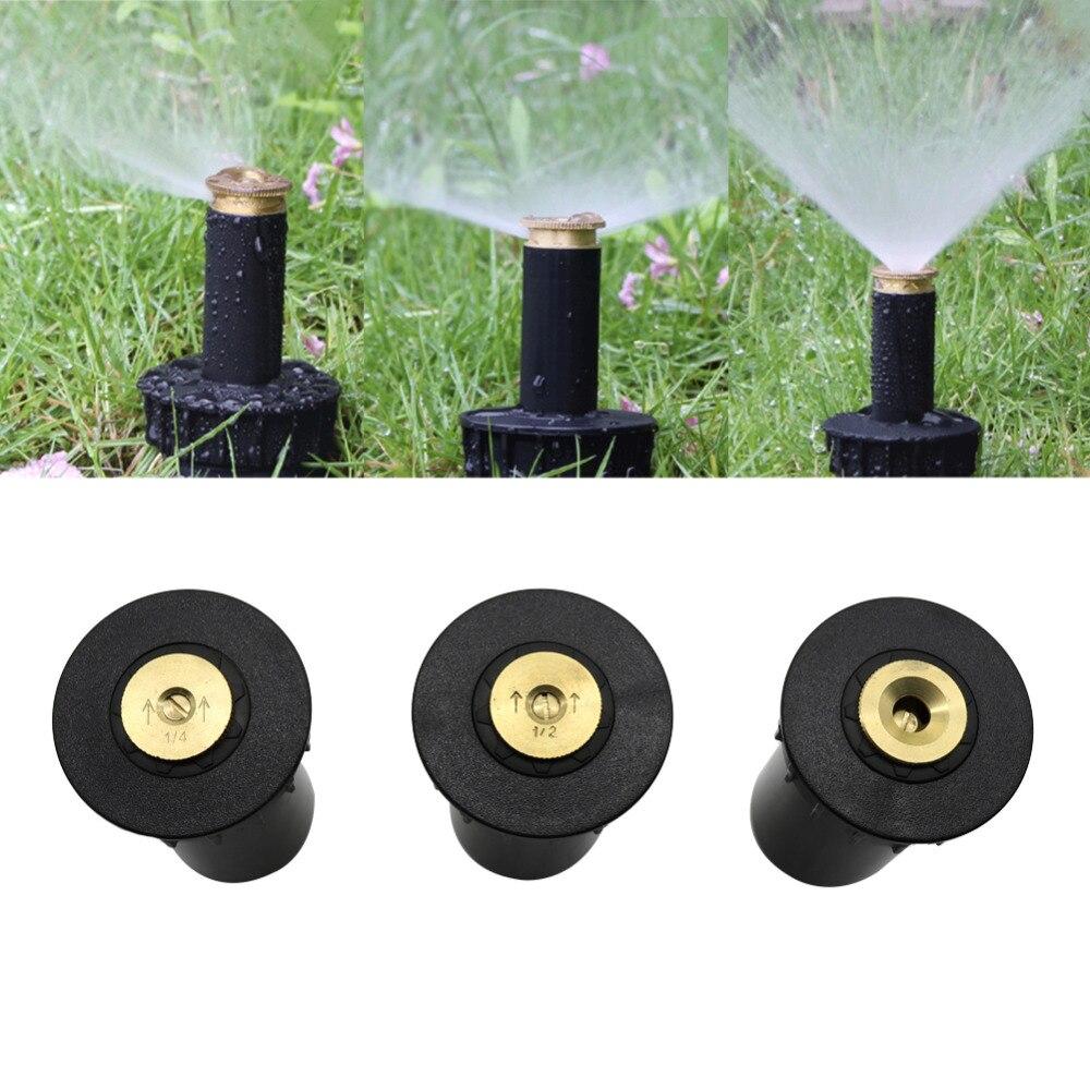 Buse darrosage de jardin en plastique ajustable, Popup, buse de pulvérisation en cuivre, 90/180/360 °, arrosage de pelouse, fil féminin 1/2 pouces