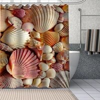 custom waterproof shower curtains 3d shell curtain bathroom waterproof polyester curtains for bathroom with hook