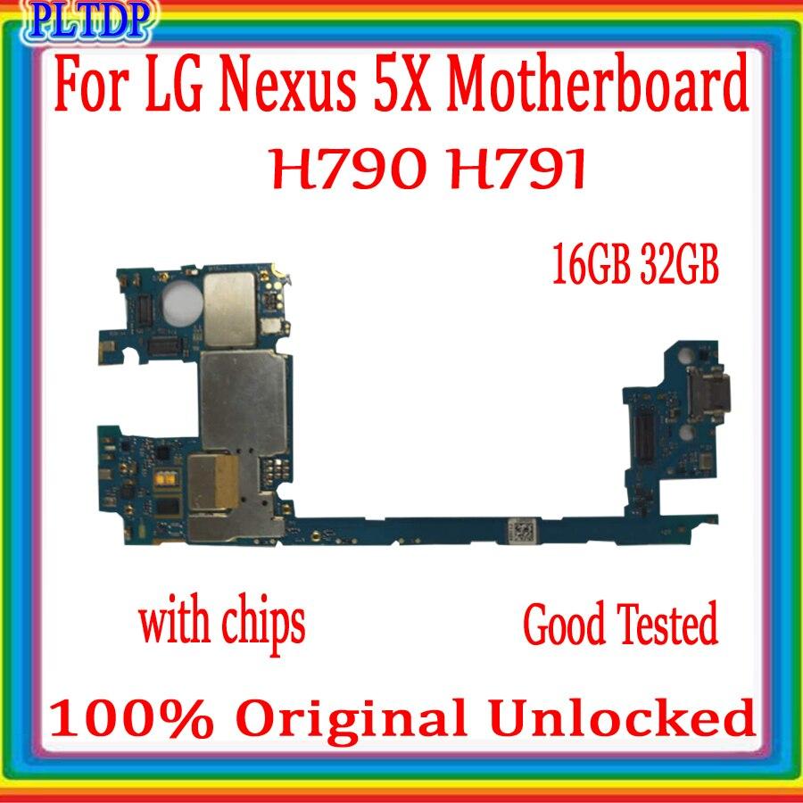 Placa base Original 100% para LG Nexus 5X H790 H791 4G, desbloqueado, compatible con placa base para Android OS, placa lógica con Chips completos