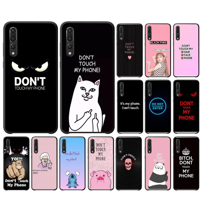 YNDFCNB no toque la funda de mi teléfono para Huawei P20 P30 P9 P10 plus P8 lite P9 lite Psmart 2019 P20 pro P10 lite