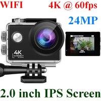 Экшн-камера 24 МП с Wi-Fi, Ultra HD, 4K, 60fps, IPS экран 2,0 дюйма, спортивная водонепроницаемая камера для шлема GoPro Sports DV 170