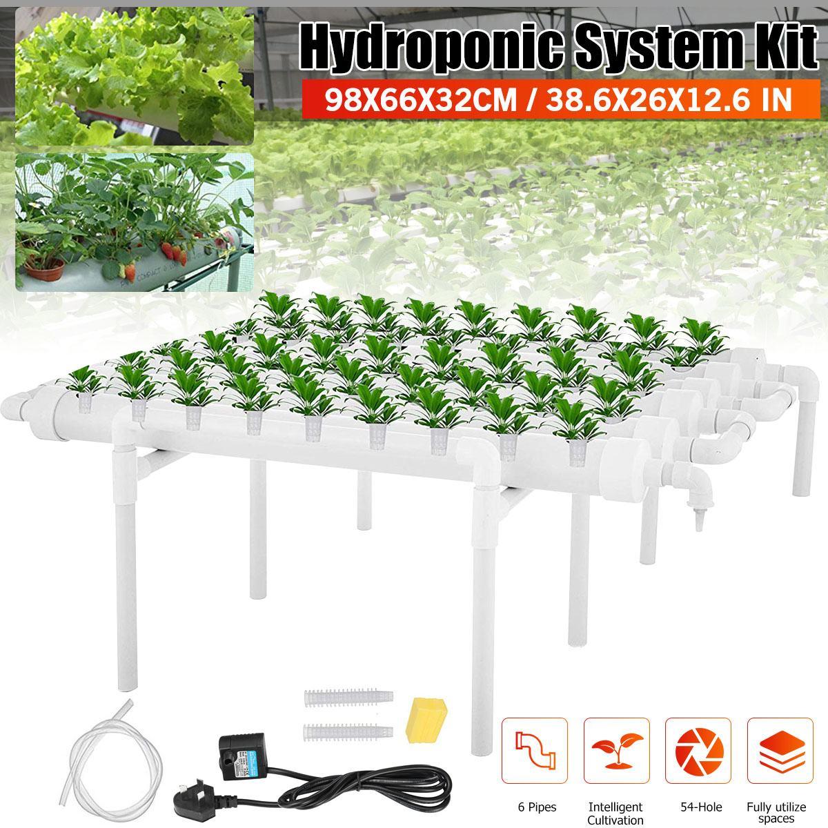 54 مواقع النباتات 6 أنابيب الحضانة الأواني نظام الزراعة المائية Soilless زراعة زارع تنمو عدة حديقة النباتات نظام الخضروات أداة