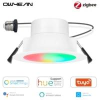 ZigBee 3 0 Gradation Tuya Smart LED Downlight Plafonnier Lampe Ampoule Fonctionne Avec Philips Hue Smartthings Alexa Assistant A Domicile