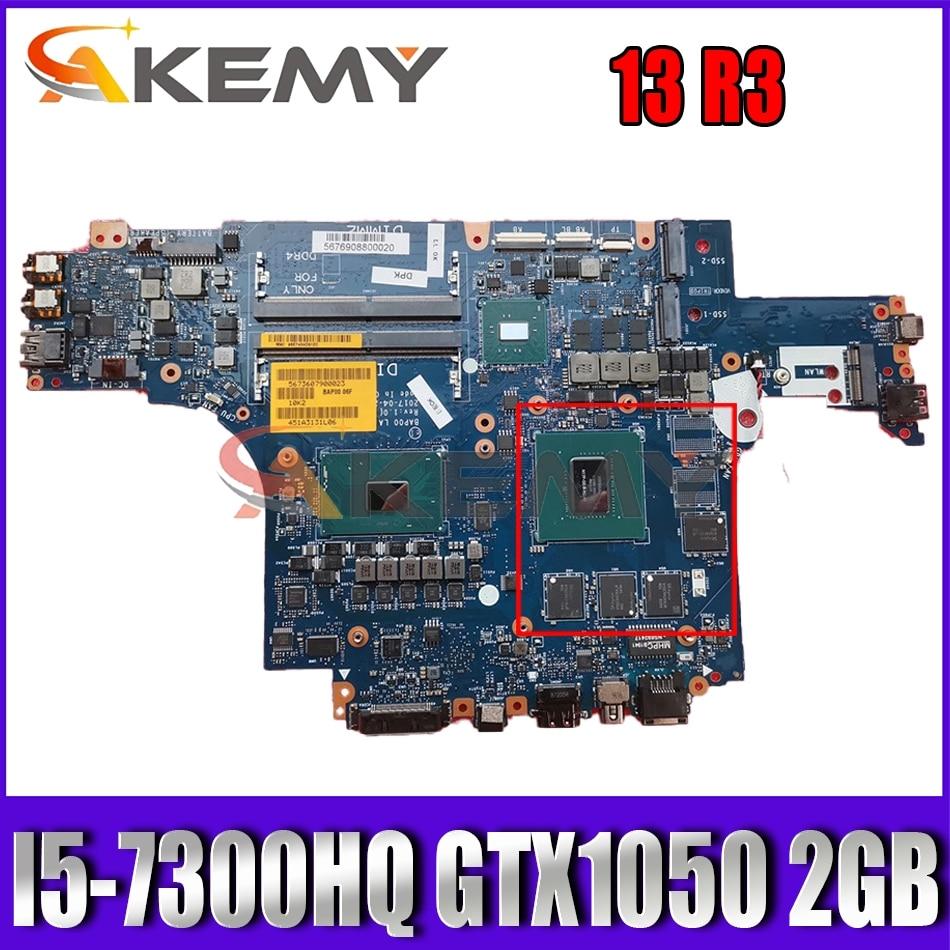 Akemy I5-7300HQ GTX1050 2GB لديل Alienware 13 R3 اللوحة الأم للكمبيوتر المحمول BAP00 LA-D581P CN-0THFCD THFCD اللوحة الرئيسية 100% اختبارها