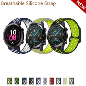 20mm 22mm Silicone Band Strap for Huawei Watch GT 2 42mm 46mm 2e GT2 Pro Honor MagicWatch Replacement Watchband