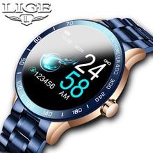 LIGE Luxury Sport Smart Watch Men IP67 Waterproof Fitness Tracker Heart Rate Blood Pressure Monitor Pedometer Health smartwatch