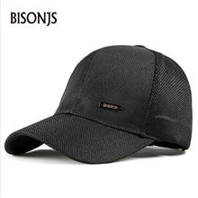 BISONJS 2020 Fashion Letter Embroidery Mesh Cap Mens Outdoor Breathable Baseball Caps Women Summer Adjustable Wholesale Sun Hat