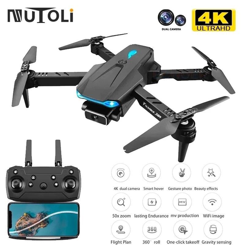 MuToLi S89 Drone 4K HD Dual Camera 50x Zoom Wifi FPV Air Pressure Altitude Hold Portable Mini Foldable Quadcopter RC Drone Toys