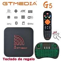 spaingemedia g5 android 9 0 tv boxyoutubeh 2654kamlogic s905x2 built in wifi 2 4g5gbt4 0support europe 4k set top box