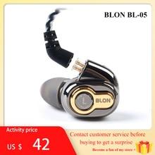 BLON BL-03 BL03 BL-05 BL05 10mm diafragma de carbono controlador dinámico en el oído auricular HIFI deporte auricular desmontable 2PIN Cable
