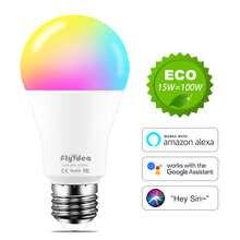 WiFi Colour E27 LED Smart Light Bulb Neon Changing Lamp Siri Voice Control Alexa Google Home Assistant APP Remote Magic RGB Bulb