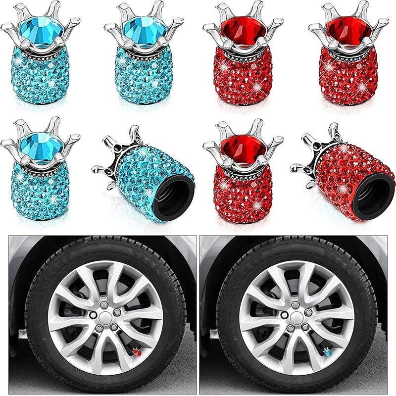 4Pcs Tire Valve Caps Universal Stem Covers for Cars Trucks SUV Motorcycles Bicycle Bike Tire Valve Stem Caps Tire Air Caps
