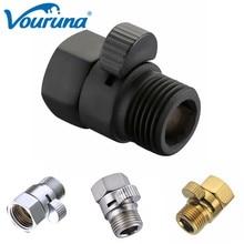 Vanne de contrôle de leau en laiton   Robinet rapide Pressue de douche brossé/chromé interrupteur darrêt pour le Spray de Bidet ou la douche supérieure, pomme de main