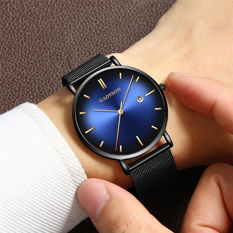 Мужские часы 2021, роскошные часы от известного бренда, мужские часы из нержавеющей стали, мужские повседневные кварцевые часы, мужские часы, ...