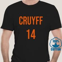 4182D Oansatz Mode Lässig Hohe Qualität Drucken T Shirt Johan Cruyff Holland 14 Soccerite T-shirt