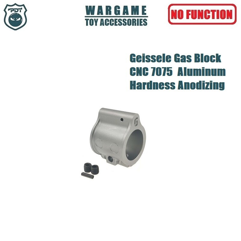 Geissele super cnc 7075 metal de alumínio bloco gás baixo perfil conjunto parafuso ar15 mk4 mk8 mk16 para gel blaster airsoft aeg gbb arma brinquedo