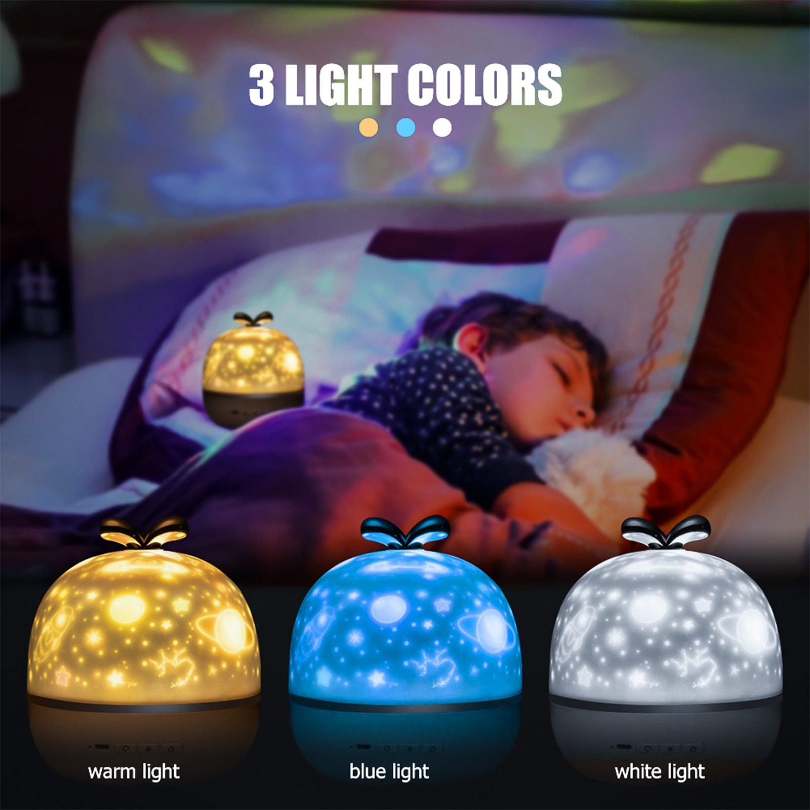 Star Projector Night Light USB Rechargeable with 10Films Colorful Flashing Sleeping Lamp Hanging Cage Lampshade Ceiling Light enlarge