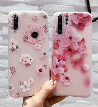 Voor Samsung Galaxy A51 A71 A50 A70 A40 A30 A20 A10 A30S A50S Een 51 71 S10e S10 S20 Ultra note 10 Lite Plus Case 3D Bloemen Cover