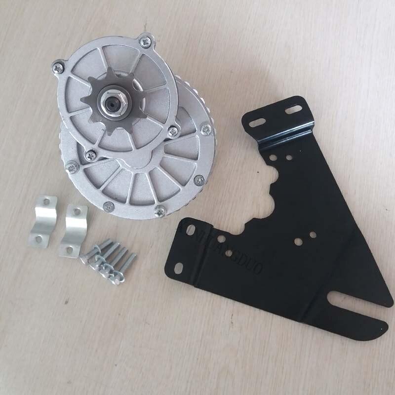 Motor del cepillo del engranaje de 250w 24 v DC, motor cepillado del engranaje de CC, bicicleta eléctrica/motor de triciclo eléctrico, motor de scooter MY1018 + soporte