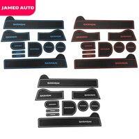 For Nissan Qashqai J10 2008-2013 2014 Gate Slot Pad Non-slip Cup Mats Anti Slip Door Groove Mat Interior Car Styling Accessories