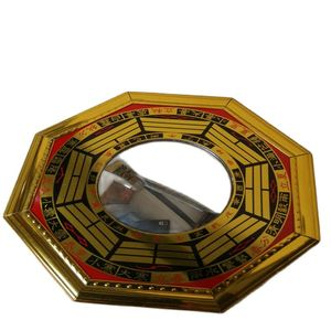 Chinese Geomantic Compass Eight Diagrams Fengshui Bronze Mirror