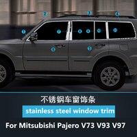 Chromium Styling For Mitsubishi Pajero V73V93V97 stainless steel window trim Pajero modified door edge bright strip