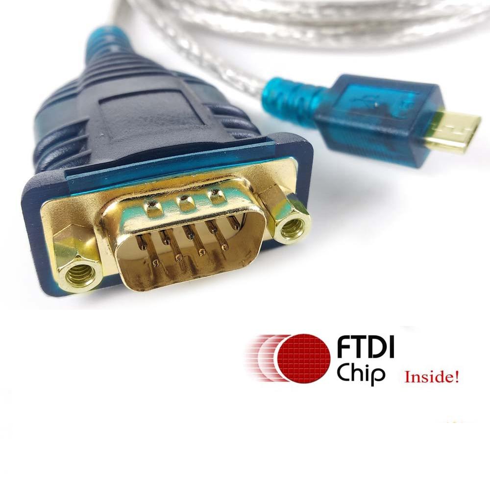 Ftdi usb rs232 db9 cable adaptador micro usb rs232 DE 9pin cable...