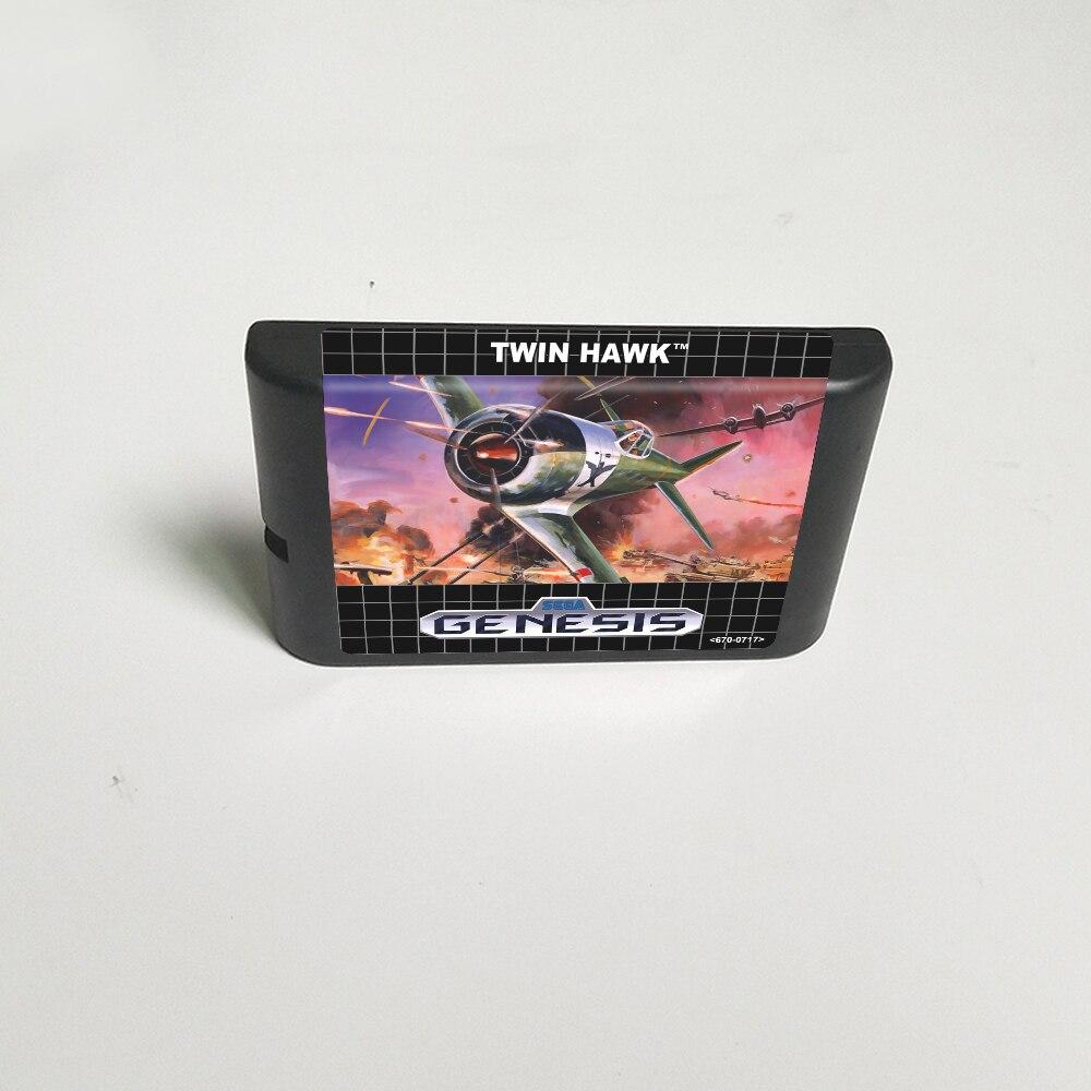 Twin Hawk-tarjeta de juego MD de 16 bits para Cartucho de consola...