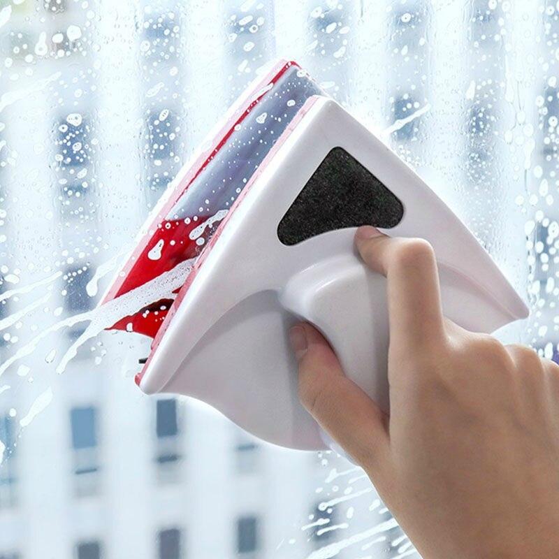Limpiador de ventana magnética de doble cara, cepillo para lavar ventanas, cepillo de limpieza de cristales magnéticos, limpiador de ventanas