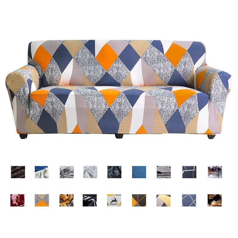 Funda geométrica elástica para sofá para sala de estar, moderna esquina seccional del sofá, funda deslizante, funda protectora para sofá, funda para silla, 1/2/3/4 plazas