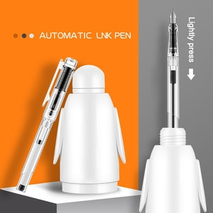 Automatic Ink Fountain Pen Fountain Pens for Writing Automatic Ink Pen Transparent Pen Student Pen Beginners Available J